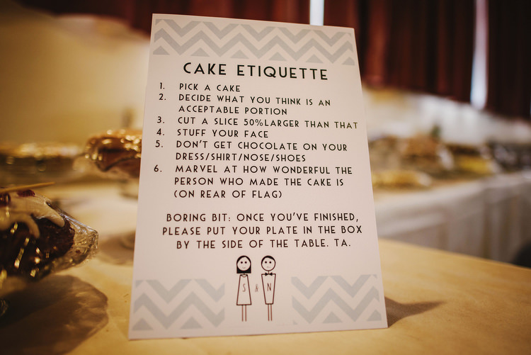 Cake Table Instructions Sign Creative Crafty Village Hall Wedding http://andygaines.com/