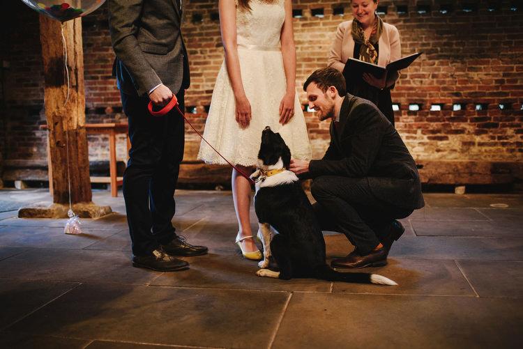 Dog Pet Ring Bearer Creative Crafty Village Hall Wedding http://andygaines.com/