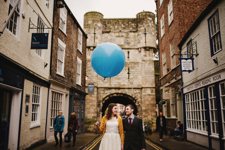 Giant Balloon York Creative Crafty Village Hall Wedding http://andygaines.com/
