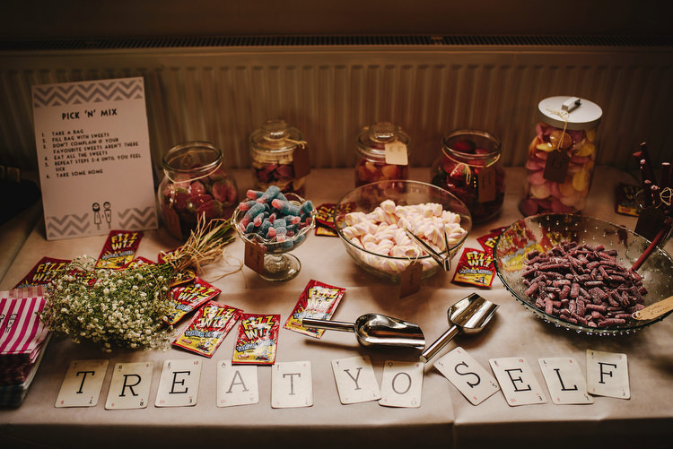 Sweets Sweetie Table Creative Crafty Village Hall Wedding http://andygaines.com/