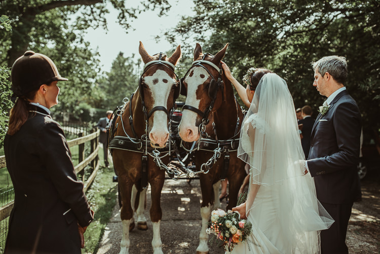 Horse Carriage Beautiful Stylish Country Marquee Wedding http://jesssoperphotography.com/