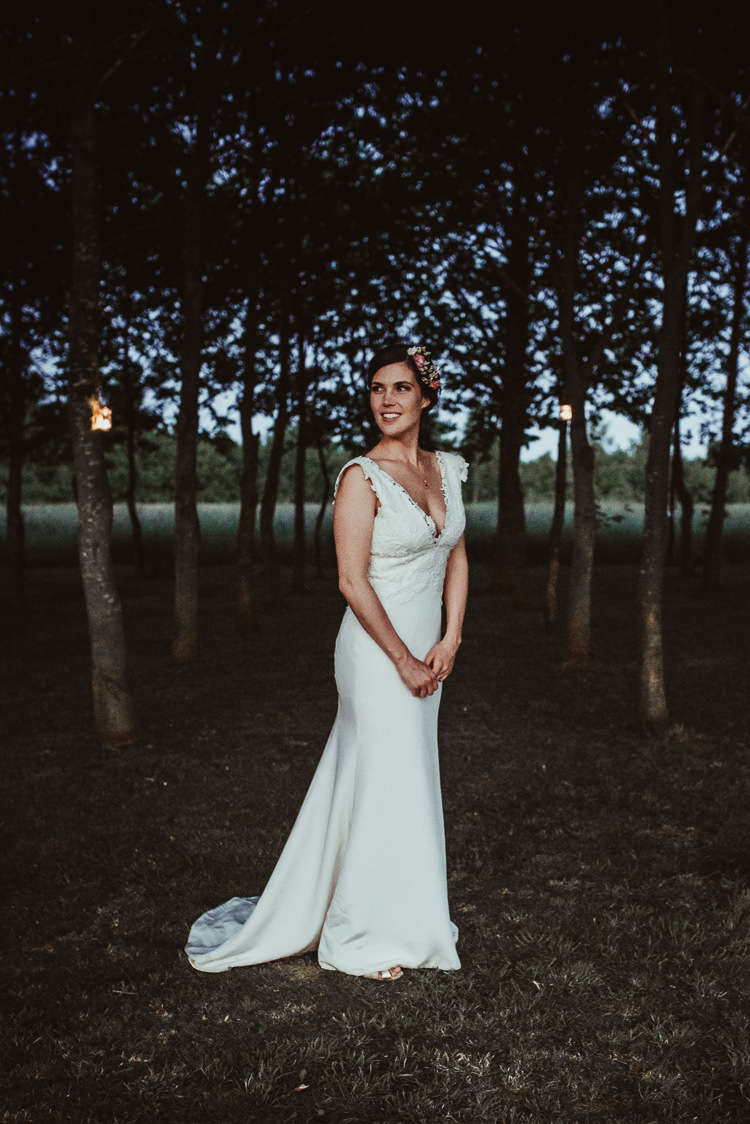 Shanna Melville Polly Dress Gown Straps Silk Crepe Bride Bridal Beautiful Stylish Country Marquee Wedding http://jesssoperphotography.com/