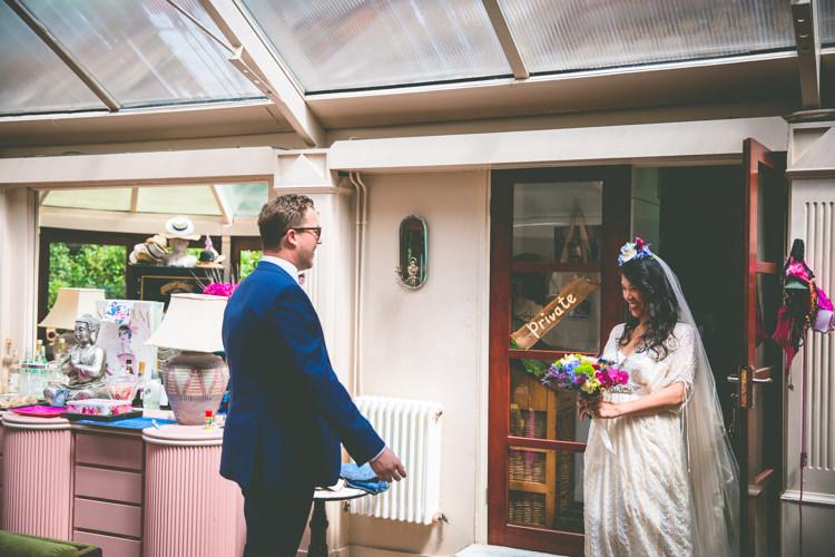 First Look Magical Outdoor Garden Festival Wedding http://realsimplephotography.net/