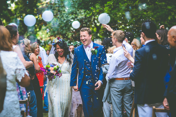 Confetti Throw Magical Outdoor Garden Festival Wedding http://realsimplephotography.net/