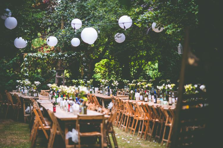 Lanterns Festoon Lights Magical Outdoor Garden Festival Wedding http://realsimplephotography.net/
