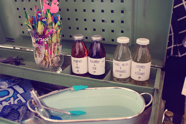 Gin Station Bar Homespun Mint Yurt Wedding http://www.jessicaraphaelphotography.com/