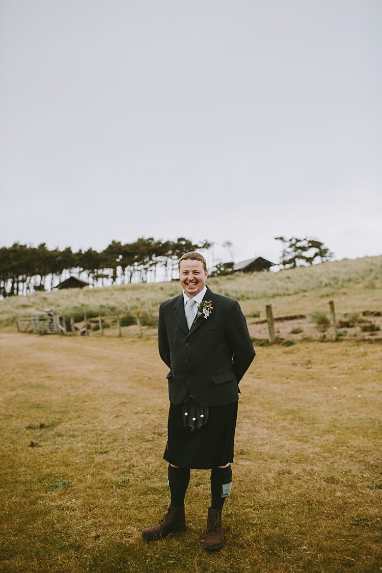 Kilt Groom Style Beautiful Bohemian Beach Glamping Wedding http://www.thecurries.co/