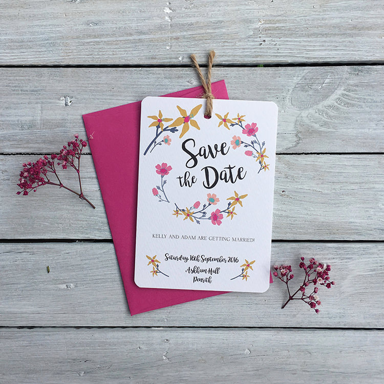 Pretty Wedding Stationery Invitations Lily and Jack's Paper Studio UK Floral Save The Date