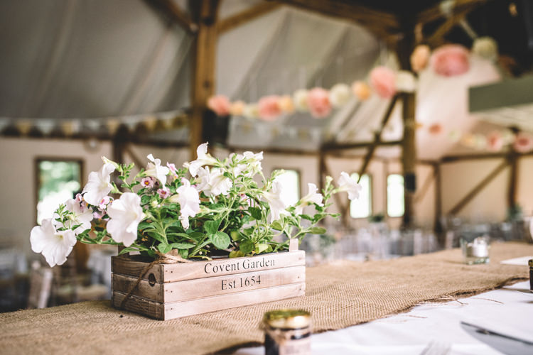 Crate Box Flowers Centrepiece Decor DIY Summer Rustic Country Wedding http://www.danielakphotography.com/