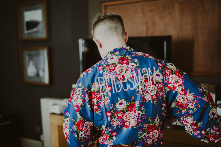 Bridesman Dressing Gown Floral Romantic Stylish Relaxed Sea Wedding http://www.oxiphotography.co.uk/