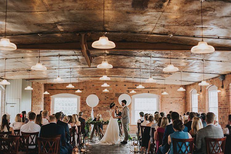 Industrial Cool Mill Greenery Wedding http://www.beckyryanphotography.co.uk/