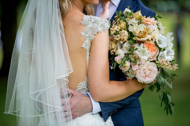 Low Back Beaded Gown Bride Bridal Dress Romantic Summer Country Blush Wedding http://katherineashdown.co.uk/