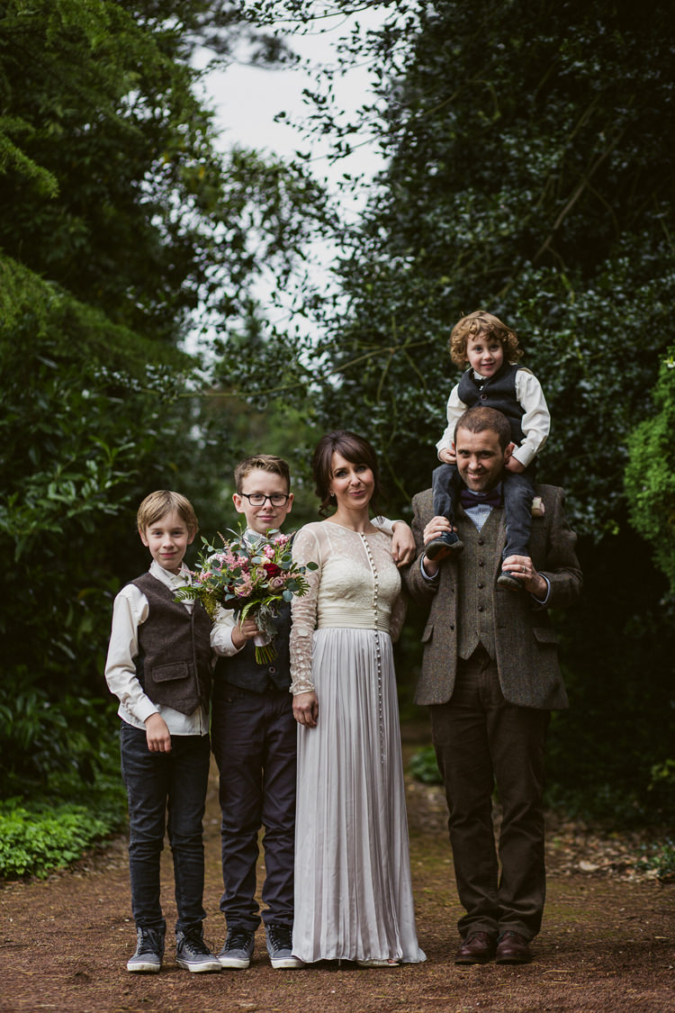 Kids Page Boys Tweed Jeans Bow Ties Relaxed Autumnal Child Friendly Wedding http://kathrynedwardsphotography.com/