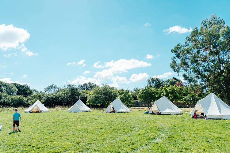 Glamping Tents Tipis Fun DIY Barn Farm Summer Wedding http://www.annapumerphotography.com/