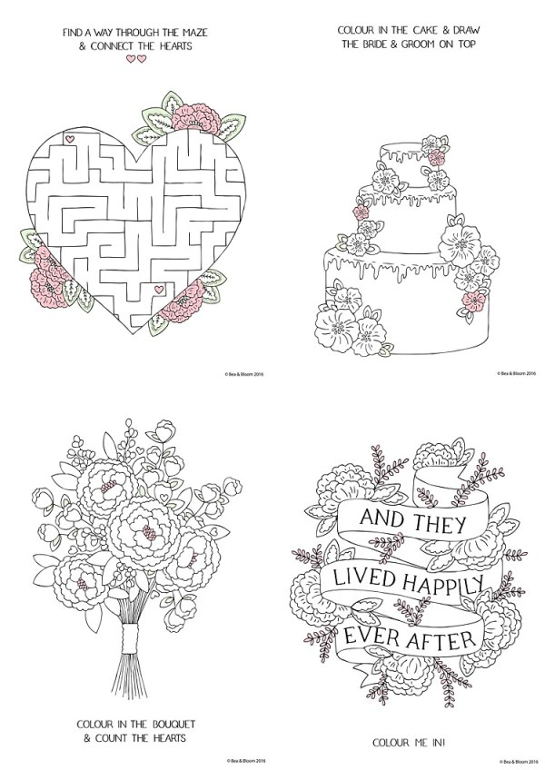 free wedding coloring pages # 15