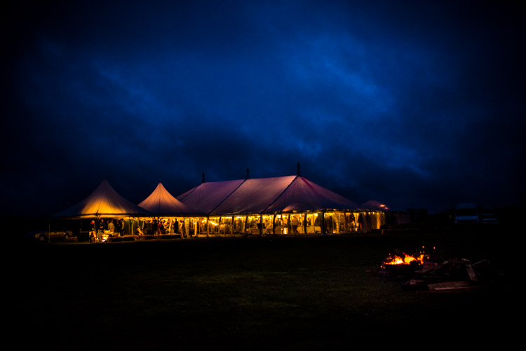 Marquee Fairy Lights Evening Multicoloured Home Made Glamping Wedding http://www.michellewoodphotographer.com/