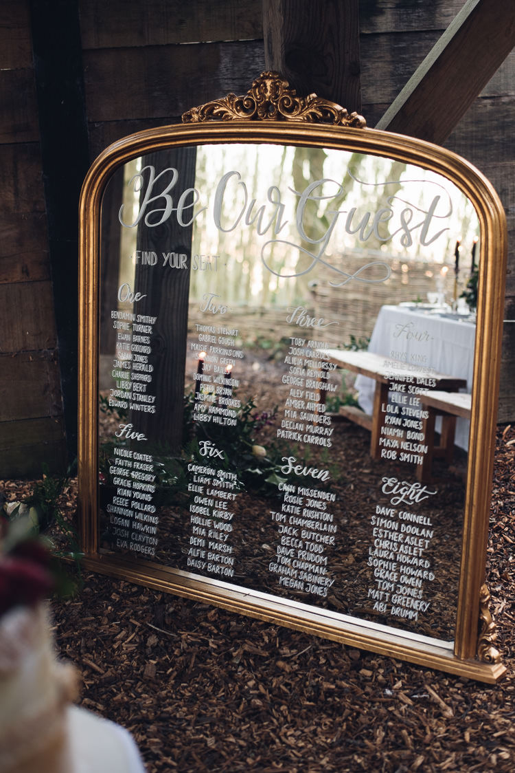 Mirror Calligraphy Seating Plan Table Chart Beauty And The Beast Wedding Ideas https://sophiecarefull.co.uk/