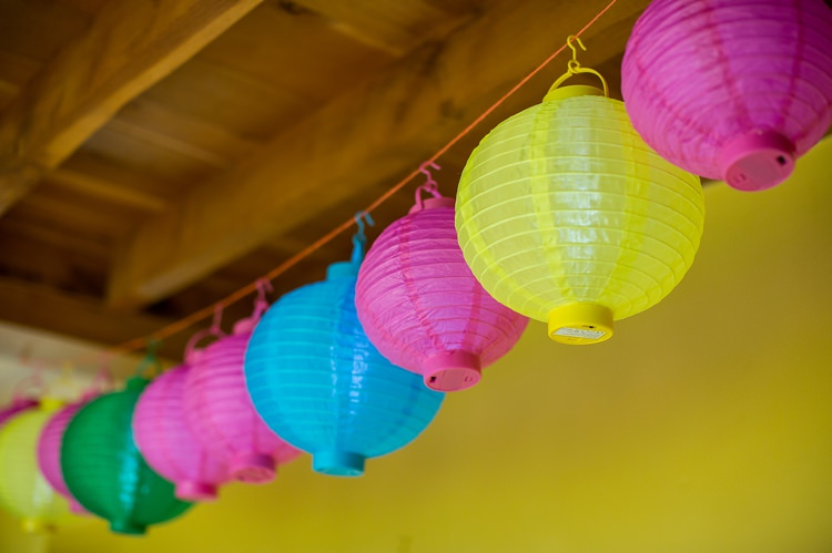 Hanging Lanterns Mexican Inspired Colourful Cactus Wedding http://katherineashdown.co.uk/