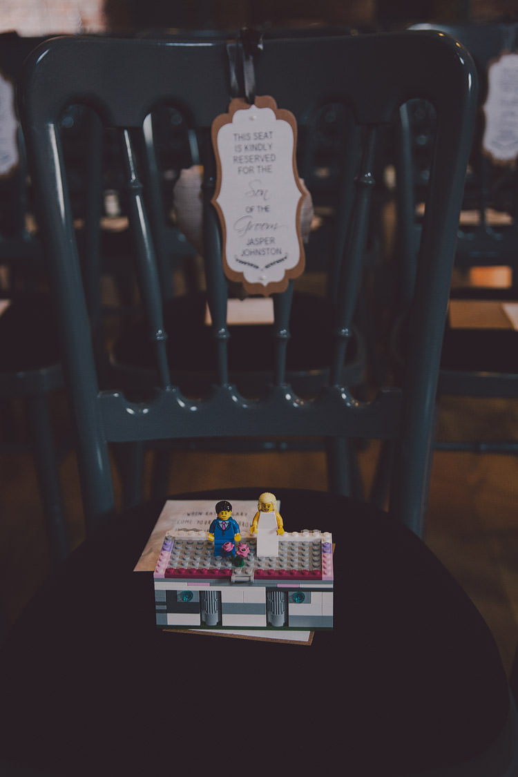 Lego Ring Box Chic Rustic Grey Barn Wedding http://www.kevelkinsphotography.co.uk/