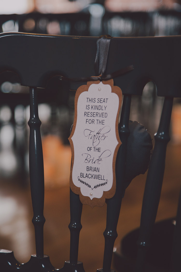 Seat Tag Reserved Stationery Chic Rustic Grey Barn Wedding http://www.kevelkinsphotography.co.uk/