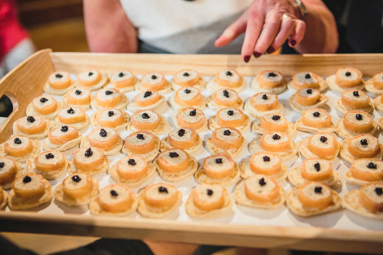 Canapés Relaxed Cosy Stylish Autumnal Wedding http://www.tierneyphotography.co.uk/
