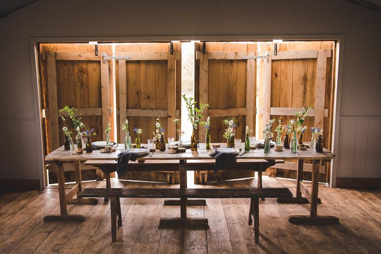 Table Scape Flowers Magical Spring Bluebell Woodland Wedding Ideas http://helinebekker.co.uk/