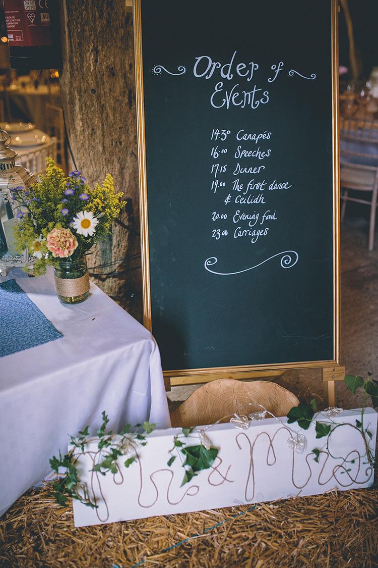 Chalk Black Board Sign Decor Homespun Fun Country Barn Wedding http://storyandcolour.co.uk/