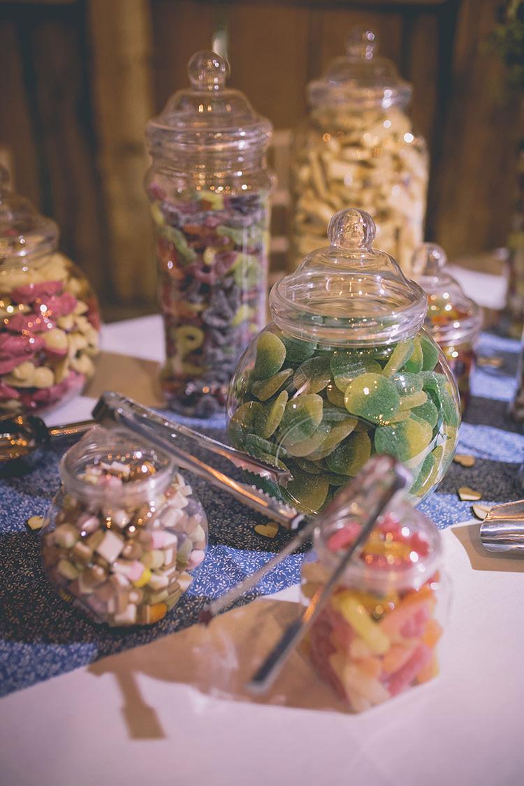 Sweetie Table Sweets Dessert Bar Station Homespun Fun Country Barn Wedding http://storyandcolour.co.uk/