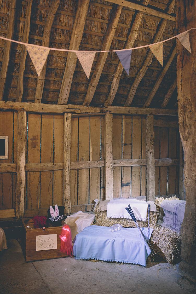 Photo Booth Hay Bales Props Bunting Homespun Fun Country Barn Wedding http://storyandcolour.co.uk/
