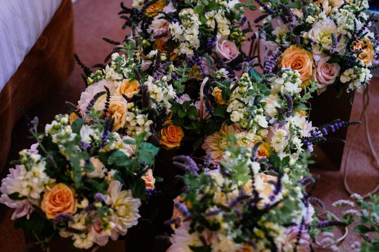 Fragrant Bouquet Mint Rose Lavender Relaxed Stylish Outdoor Wedding http://www.euanrobertsonweddings.com/