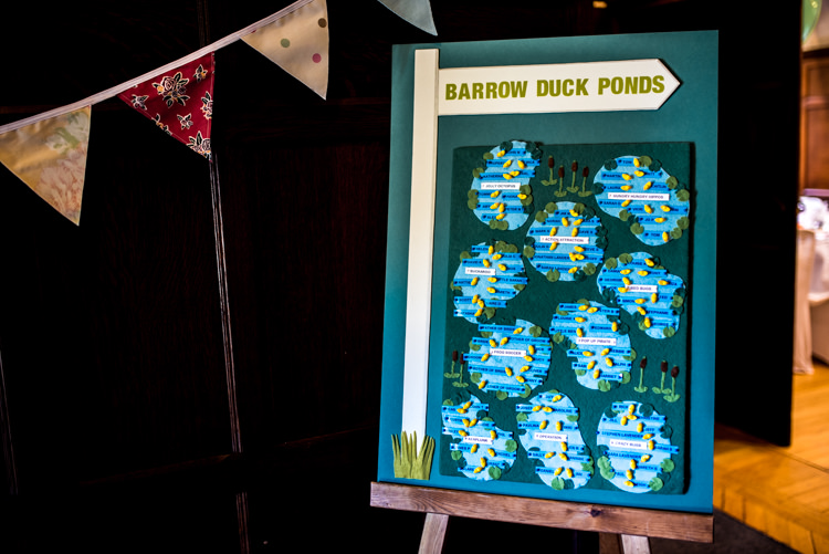 Duck Pond Seating Plan Table Chart Quirky English Garden Party Wedding http://www.michellewoodphotographer.com/