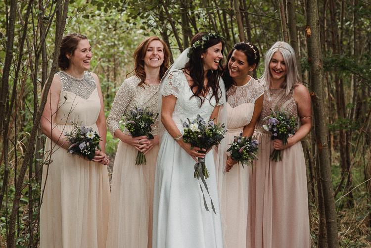 Mismatched Pink Blush Bridesmaid Dresses Long Bohemian Festival Tipi Wedding http://esmemai.com/