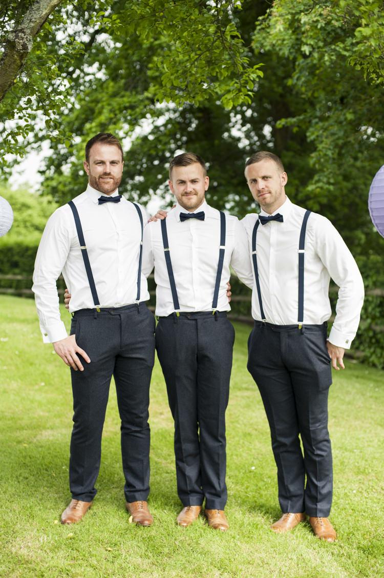 Bow Tie Braces Groom Groomsmen Whimsical Summery Lilac Wedding http://eleanorjaneweddings.co.uk/