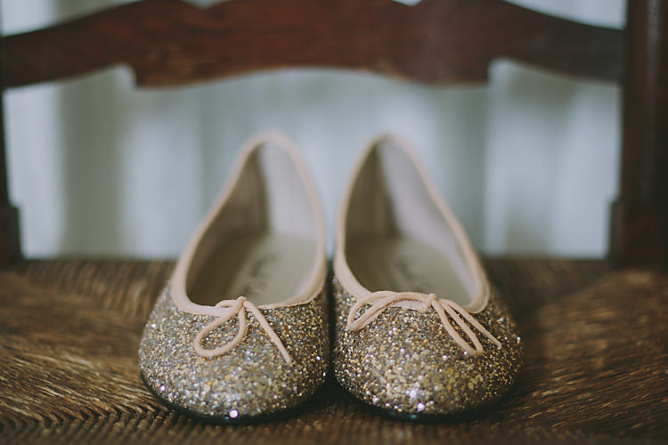 Glitter Pump Flat Shoes Bride Bridal Lovely Greenery Farm Tipi Wedding http://www.victoriasomersethowphotography.co.uk/