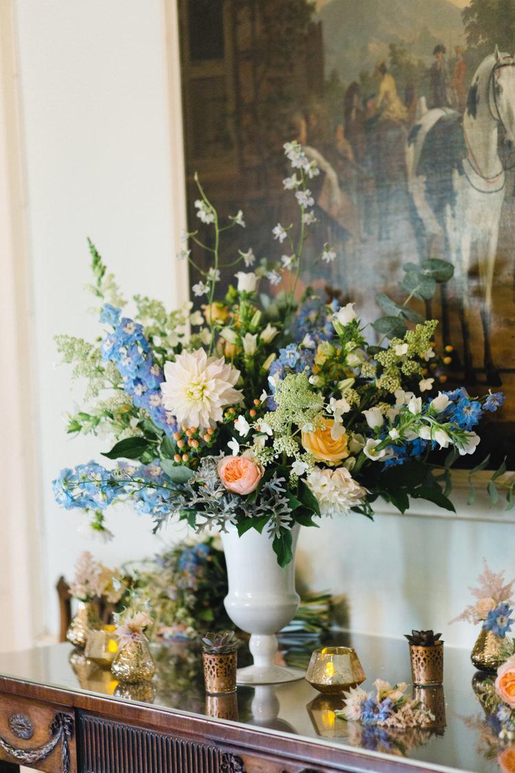 Peach Blue Flowers Dahlia Whimsical Pastel Travel Wedding https://www.thegibsonsphotography.co.uk/