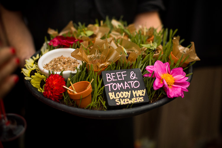 Canapes Food Fun Multicolour Creative Barn Wedding http://www.mattparryphotography.co.uk/