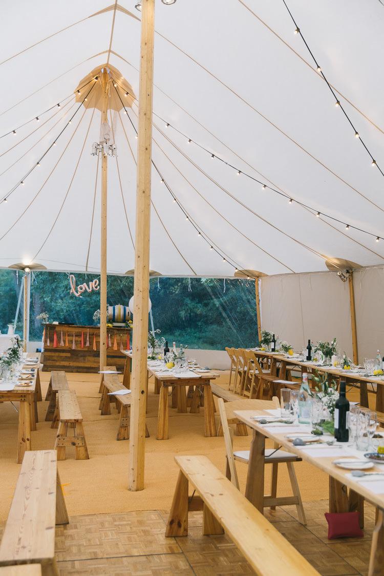 Pole Tent Marquee Sperry Festoon Lights Creative Cool Bohemian Harbourside Wedding http://carohutchings.com/