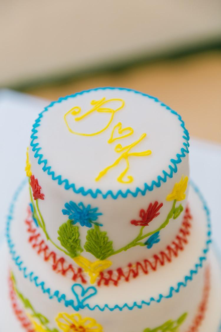 Colourful Mexican Cake Creative Cool Bohemian Harbourside Wedding http://carohutchings.com/