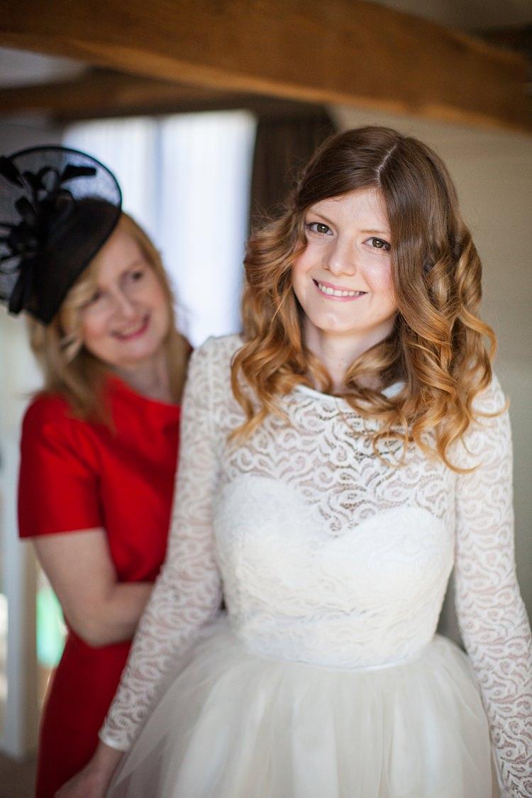 Mid Length Wavy Curly Hair Bride Bridal Make Up Fun Spring Floral Creative Wedding https://www.binkynixon.com/