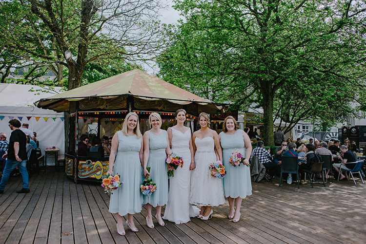 Teal Length Dress Grecian Monsoon Bridesmaids Blue Multicolour Bouquets Colourful Fun Party Brighton Wedding http://jmcsweeneyphotography.co.uk/