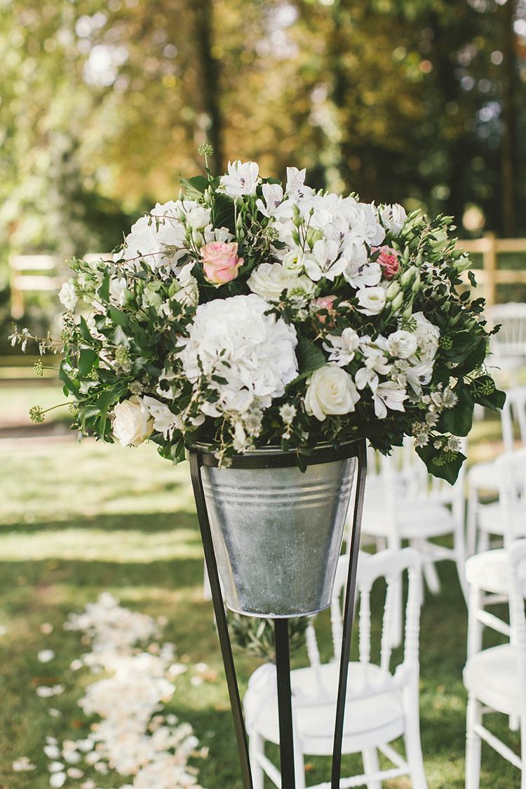 Aisle Flowers Roses White Natural Romantic Chateau Destination Wedding South of France http://www.jayrowden.com/