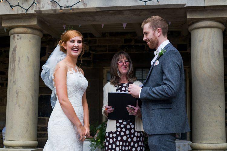Bride Bridal Pronovias Gown Dress Lace Illusion Fishtail Lace Next Groom Pretty Quirky Pastel Wedding http://www.happilyevercaptured.com/
