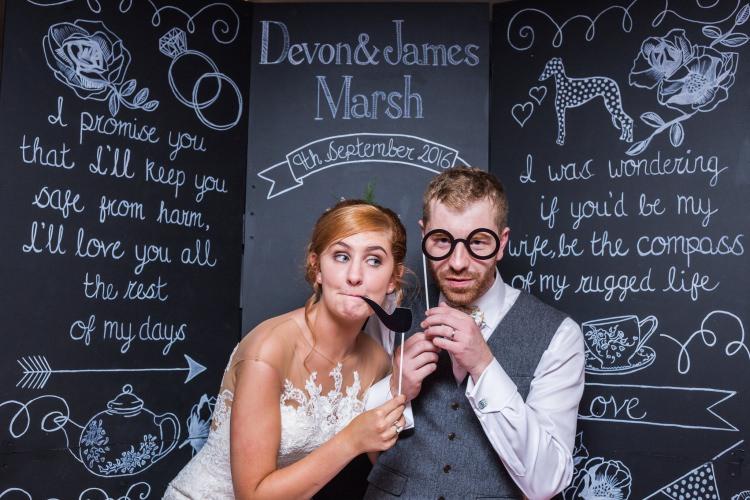 Photobooth Backdrop Chalk Blackboard Board Pretty Quirky Pastel Wedding http://www.happilyevercaptured.com/