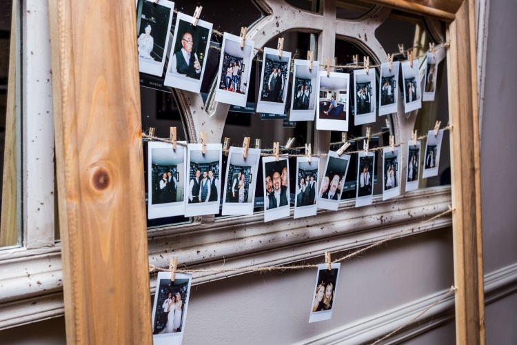 Frame Polaroid Peg Detail Decor Pretty Quirky Pastel Wedding http://www.happilyevercaptured.com/