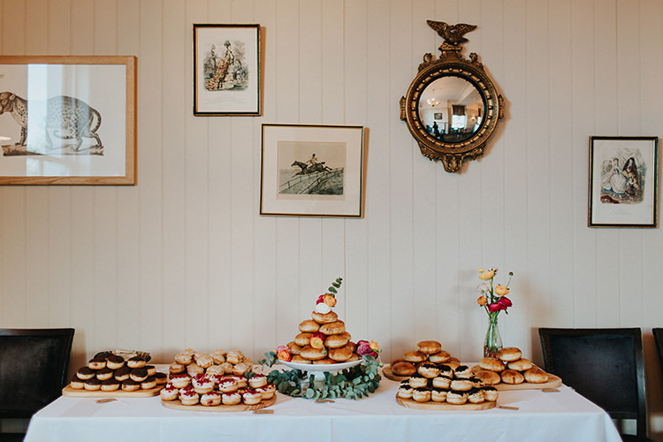 Cake Table Doughnut Donut Casual City Stylish Pub Wedding http://www.ireneyapweddings.com/
