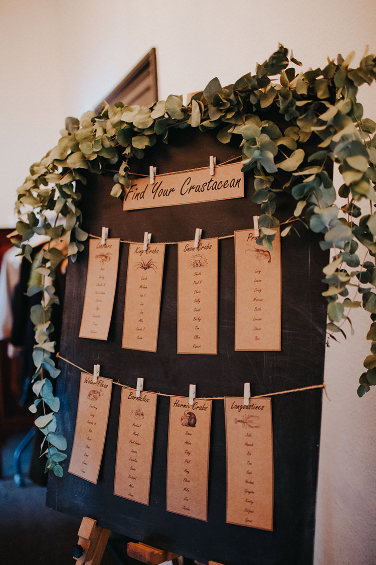 Greenery Foliage Table Plam Seating Chart Eucalyptus Casual City Stylish Pub Wedding http://www.ireneyapweddings.com/