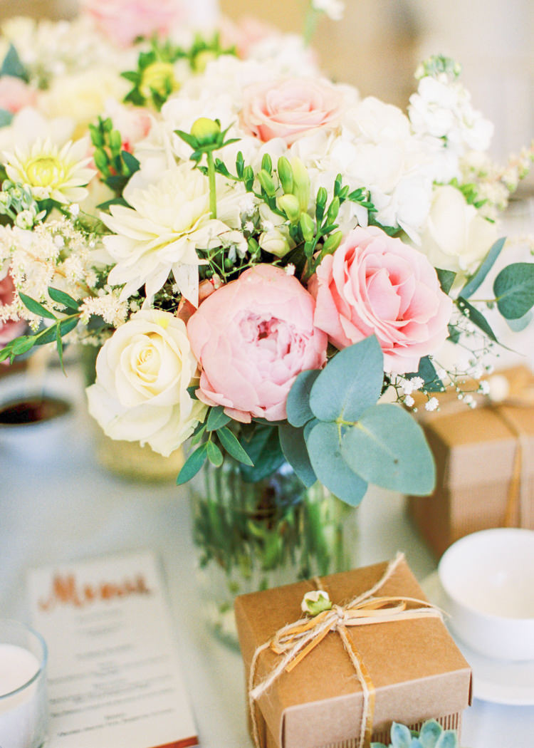 Flowers Table Centrepiece Decor Rose Peony Pink White Whimsical Luxury Summer Garden Party Wedding https://www.wookiephotography.com/