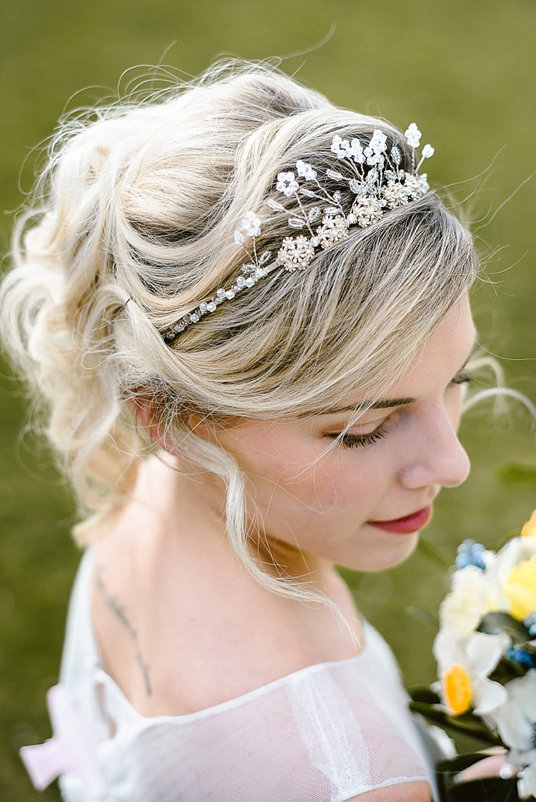 Hair Bride Bridal Style Up Do Tiara Accessory Beautiful Countryside Wedding Ideas Inspiration http://www.georginabrewster.com/