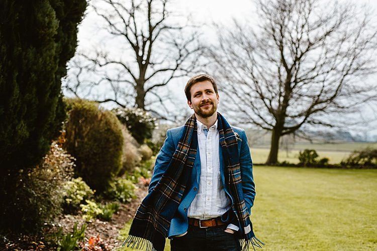 Scarf Groom Suit Style Beautiful Countryside Wedding Ideas Inspiration http://www.georginabrewster.com/