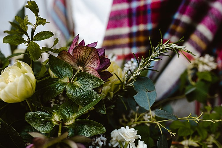 Bouquet Flowers Bride Bridal Spring Ribbon Cream Red Hellebores Blossom Foliage Beautiful Countryside Wedding Ideas Inspiration http://www.georginabrewster.com/